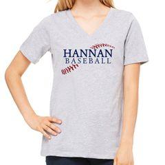 Hannan Baseball Bella Vneck
