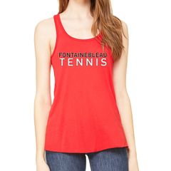 FHS Tennis Flowy Red Tank