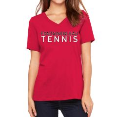 FHS Tennis Red Bella V-neck