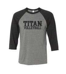 GREY/GREY RAGLAN 3/4 SLEEVE SHIRT