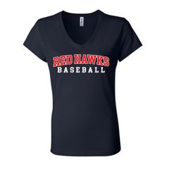 Red Hawks Baseball Ladies V-neck