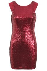 Missi Womens Sequin Red Mini Dress, BlinQ Sequin Dress