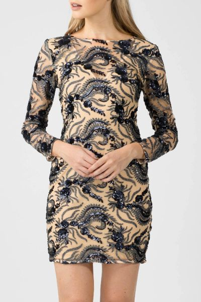 Womens Flora Sequin Sheath Mini Dress, BodyCon Dress