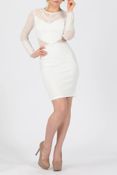 Missi Womens Embroidered Lace Sheath Dress