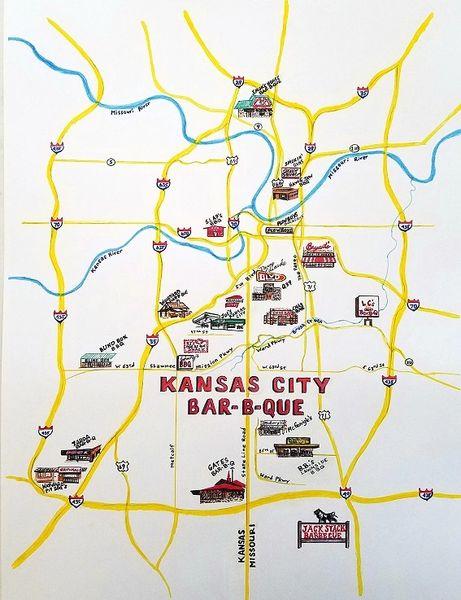 Kansas City Bar-B-Que Map