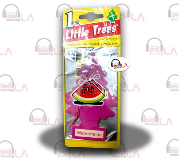Little Trees Hanging Car and Home Air Freshener, Watermelon(Pack of 24)