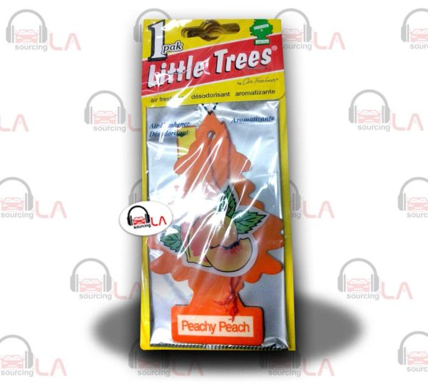 Little Trees Hanging Car and Home Air Freshener, Peachy Peach(Pack of 24)
