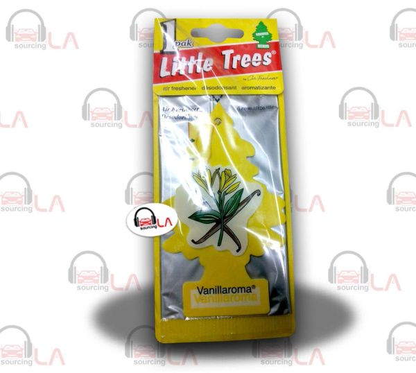 Little Trees Hanging Car and Home Air Freshener, Vanillaroma(Pack of 24)