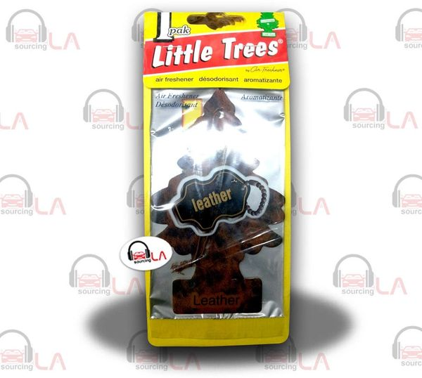 Little Trees Hanging Car and Home Air Freshener, Leather(Pack of 24)