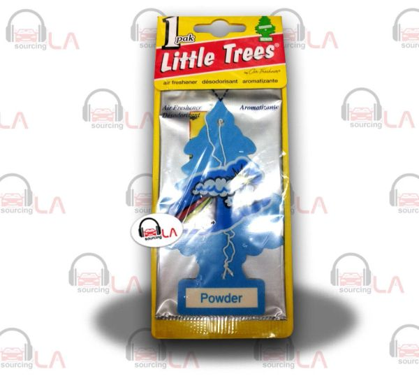Little Trees Hanging Car and Home Air Freshener, Powder(Pack of 24)