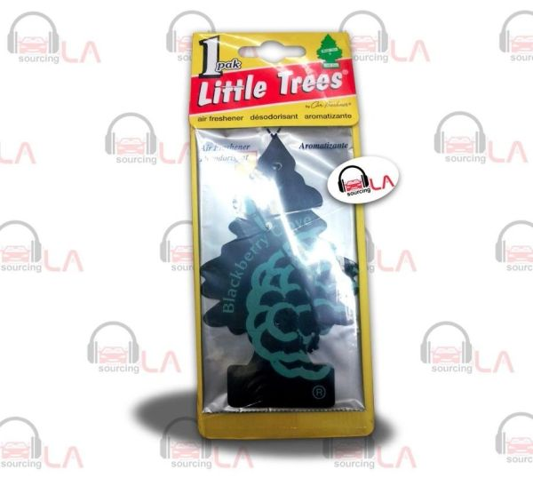 Little Trees Hanging Car and Home Air Freshener, Black Berry Clove (Pack of 24)