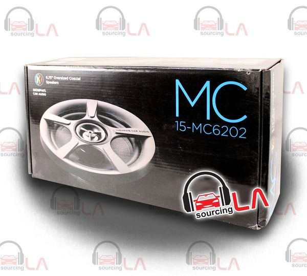 "MEMPHIS MC6202 6.5"" 200W 4 OHM COAXIAL CAR AUDIO STEREO SPEAKERS SET"