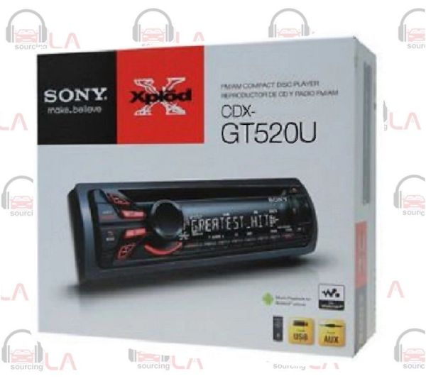 SONY CDX-GT520U AUX/USB CD PLAYER SINGLE DIN DETACHABLE FACE STEREO
