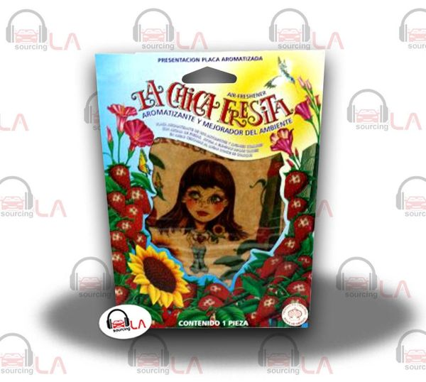 LA CHICA FRESITA CAR AIR FRESHENER DEODORANT STRAWBERRY FRESA AROMATIZANTE