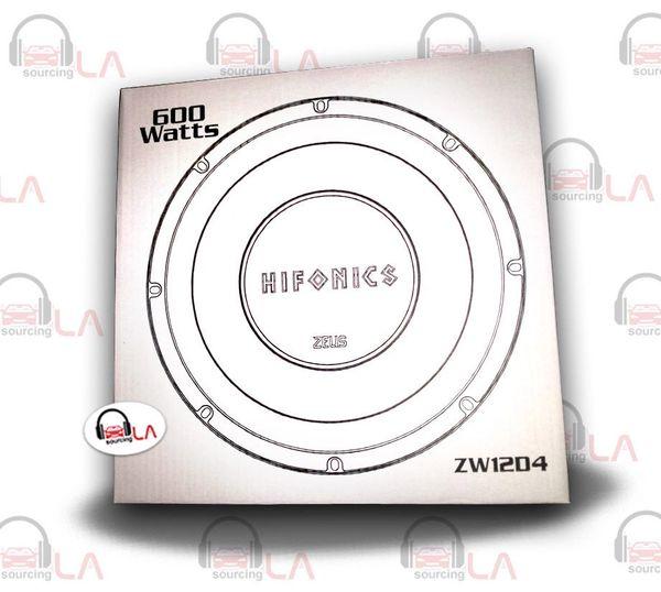 """Hifonics ZW12D4 12"""" Dual Voice Coil 4 Ohm Zeus Series Car Subwoofer 600w Pair"""