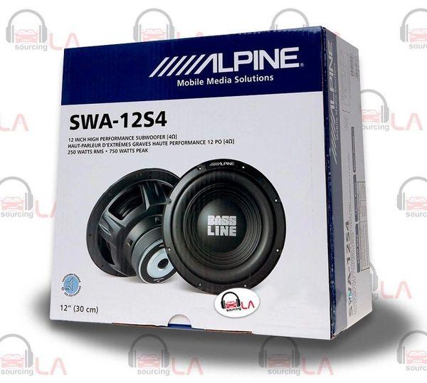 "Alpine SWA-12S4 12"" Single 4-Ohm Type-E Series Car Subwoofer"