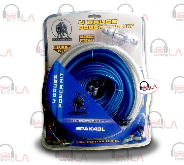 XSCORP EPAK4BL 4 GA Gauge Power Amplifier Intallation Wiring Kit RCA