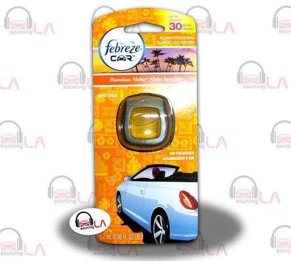 Febreze Car Vent Clips Air Freshner & Odor Elimintor Hawaiian Aloha - LOTOF8