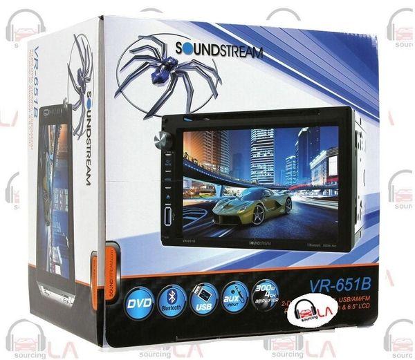 "SOUNDSTREAM VR-651B IN-DASH 2-DIN 6.5"" TV DVD CD MP3 USB BLUETOOTH EQUALIZER"