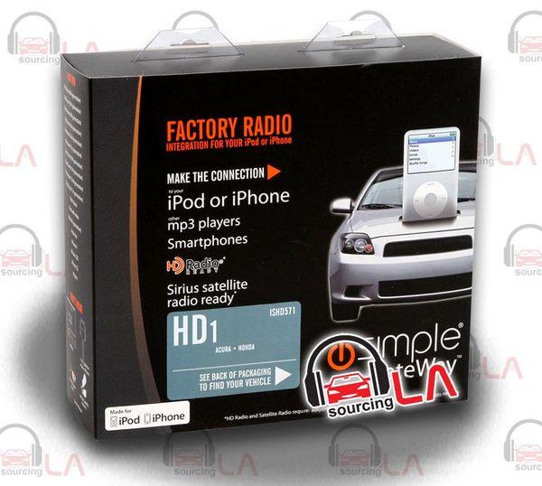 iSIMPLE GATEWAY ISHD571 ACURA FACTORY RADIO TO iPOD/iPHONE AUXILIARY INTERFACE