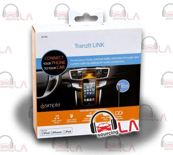 iSIMPLE IS7705 IS-7705 I-PHONE 5/5S / I-POD FM TRANSMITTER / TRANZIT LINK