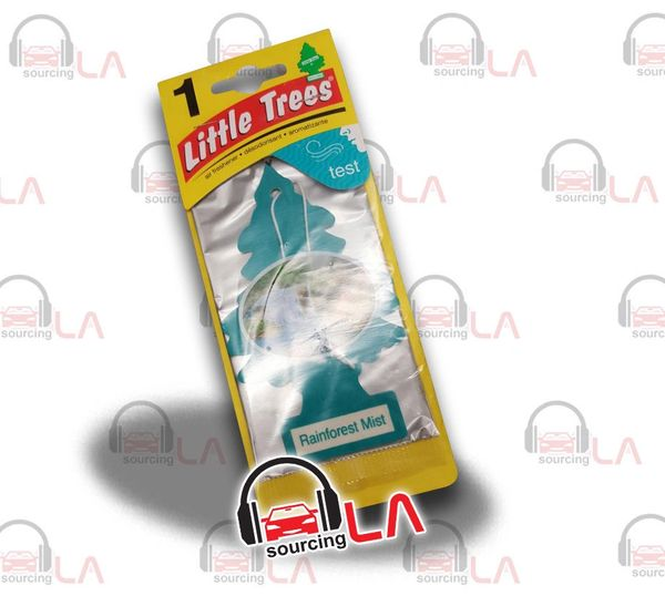 Little Trees Hanging Car and Home Air Freshener, Rainforest Mist(Pack of 24)