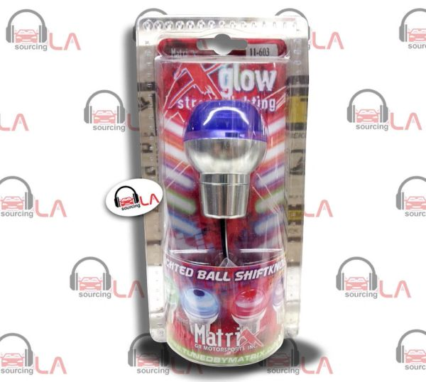PURPLE LED LIGHT DOME MANUAL TRANSMISSION SHIFT KNOB