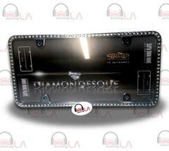 CRUISER ACCESSORIES Clear Diamondesque Black License Plate Frame CRU18130