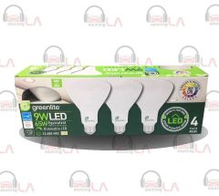 GREENLITE 9WATT 65W Br30 MEDIUM BASE BRIGHT WHITE 3,000K LED BULB