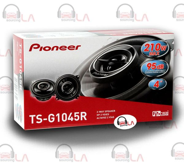 "Pioneer TS-G1045R 4"" 210 Watt 2-Way Car Audio Speakers"