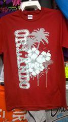 Adult Orlando Silver Flower & Pam Tree T-Shirt