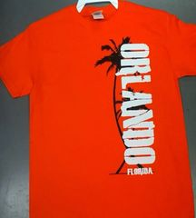 Adult Orlando Florida Pam Tree Side Print T-Shirts