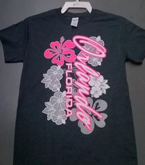 Adult Orlando Pink & Silver Flower T-Shirts