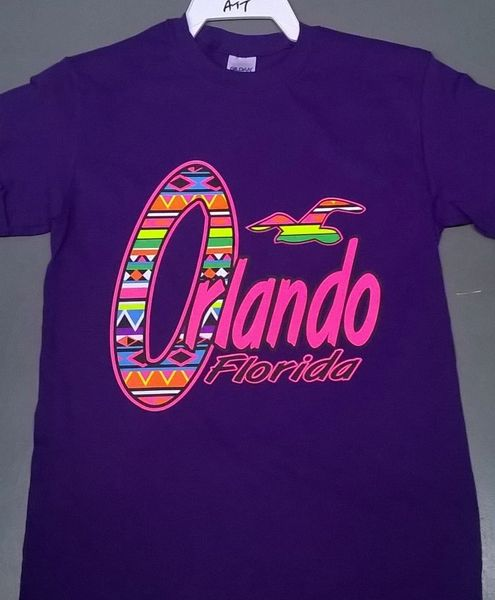 Adult Neon Orlando Florida T-Shirts