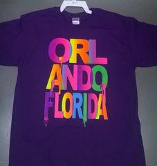 Adult Neon Driping Orlando Florida T-Shirts