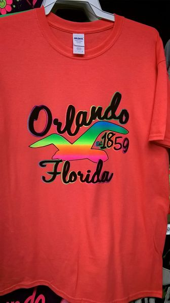 Adult Neon Est 1859 Orlando Florida T-Shirts
