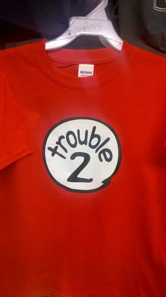 Adult TROUBLE-2 T-Shirts