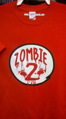 Adult ZOMBIE-2 Red T Shirt