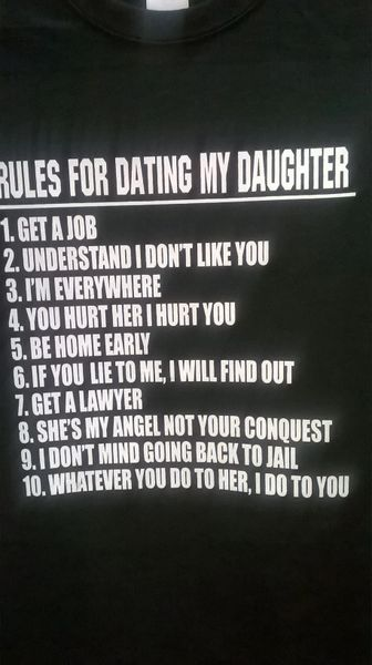 Rules For Dating My Daughter T-Shirt