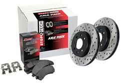 STOPTECH : PosiQuiet Brake Pad and Rotor Front Axle Packs (6 lugs) 2011-2014 F150 5.0