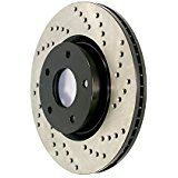 STOPTECH Slotted & Drilled Sport Brake Rotor Front Right (6 lugs) 2011-2014 F150 5.0