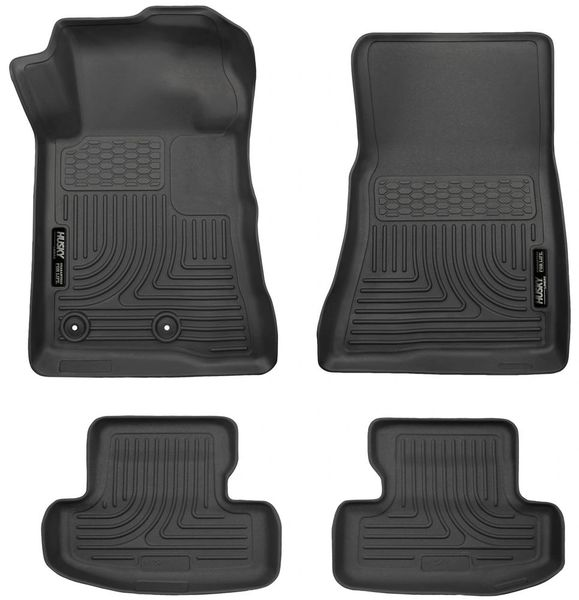 HUSKY LINERS WeatherBeater FRONT & 2ND SEAT FLOOR LINERS-2015-2020 MUSTANG/GT/COUPE