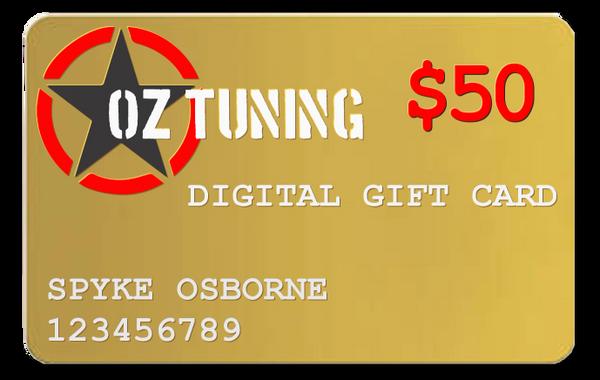 Oz Tuning $50 Digital Gift Card
