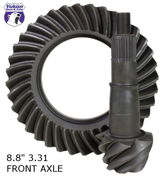 "YUKON GEAR Ring & Pinion 8.8"", 3.31 ratio (Front Axle) - 2011-2018 F150"