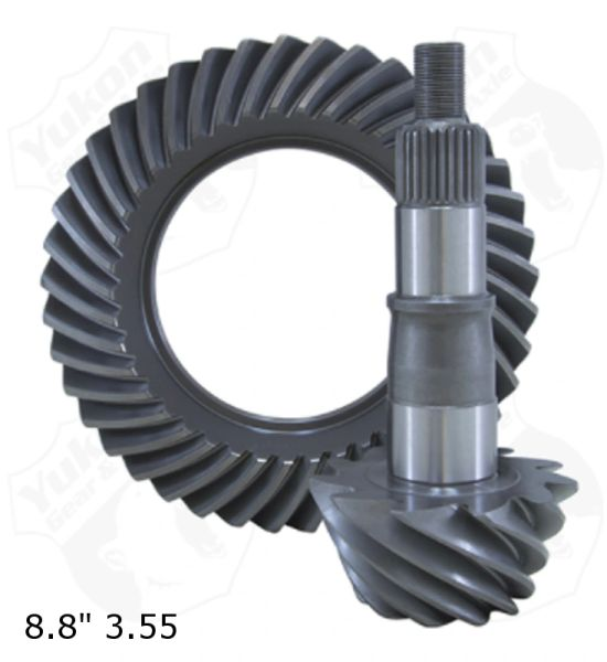 "YUKON GEAR Ring & Pinion Super 8.8"", 3.55 ratio - 2015-2018 Ford"