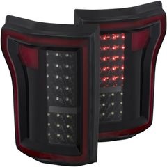 ANZO LED Taillights Black - 2015-2017 Ford F-150