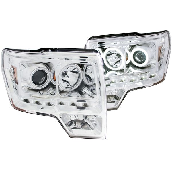 ANZO Projector Headlights w/ Halo Chrome CCFL - 2011-2014 Ford F150