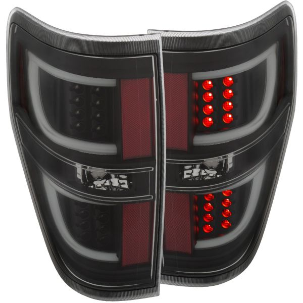 ANZO LED Taillights Black 2011-2014 Ford F-150