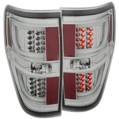 ANZO LED Taillights Chrome 2011-2014 Ford F-150