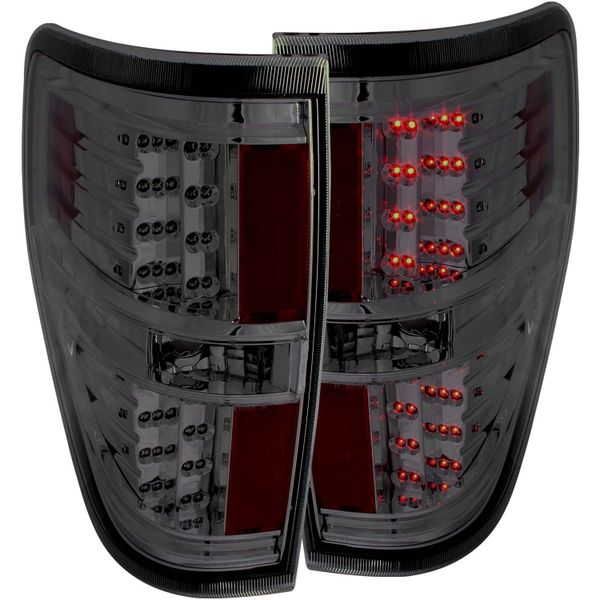 ANZO LED Taillights Smoke 2011-2014- Ford F-150